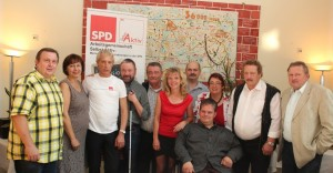 die Teilnehmer und Gäste der Klausurtagung der AG Selbst Aktiv in Stendal 2014